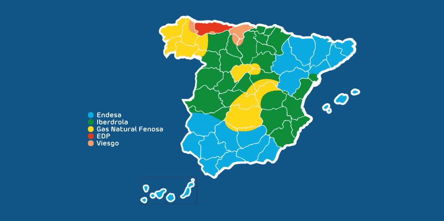 Áreas de distribución en España